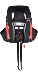 2019 Kru Sport Pro 170N ADV Automatic Lifejacket With Harness, Hood & Light Carbon / Red LIF7311