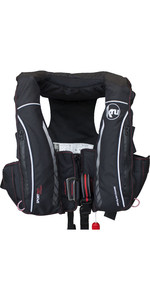 2019 Kru Sport Pro 275N ADV Automatic Lifejacket With Harness, Hood & Light Carbon LIF7410