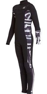Billabong Junior Furnace Revolution 3/2mm Chest Zip Wetsuit Black Print L43B04