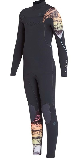 2018 Billabong Junior Furnace Carbon 3/2mm Chest Zip Wetsuit Graphite L43B03