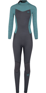 2018 Billabong Junior Furnace Synergy 4/3mm Back Zip Wetsuit Sugar Pine L44B02