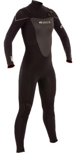 Typhoon Womens TX2 3/2mm Chest Zip Wetsuit BLACK 250820