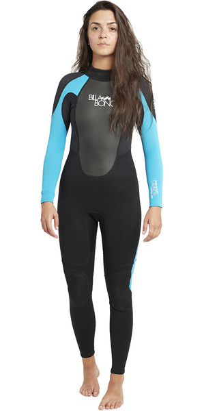 2018 Billabong Ladies Launch 5/4/3mm GBS Wetsuit Black / Turquoise 045G01