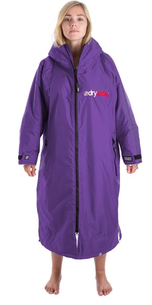2018 Dryrobe Advance Long Sleeve Premium Outdoor Change Robe DR104 Purple / Grey
