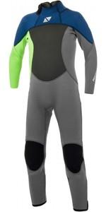 2021 Magic Marine Kids Brand 3/2mm Back Zip Wetsuit 180025 - Lime
