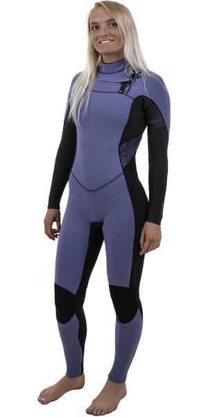 2018 O'Neill Womens Hyperfreak 3/2mm Chest Zip GBS Wetsuit Mist / BLACK 5074