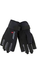 2019 Musto Essential Sailing Short Finger Gloves Black AUGL003