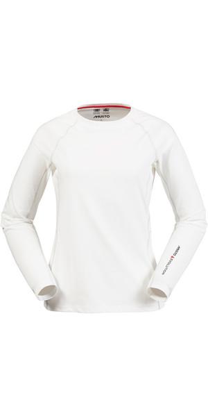 Musto Evolution Ladies Sunblock Long Sleeve Tee WHITE SE0873