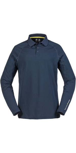 Musto Evolution Sunblock Long Sleeve Polo Top True Navy SE0254