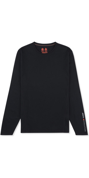 2019 Musto Mens Evolution Sunblock Long Sleeve T-Shirt Black EMTS020