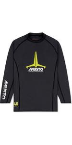 2019 Musto Junior Insignia UV Fast Dry LS T-Shirt Black SKTS012