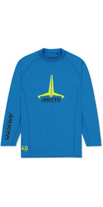 2020 Musto Junior Insignia UV Fast Dry LS T-Shirt Brilliant Blue SKTS012