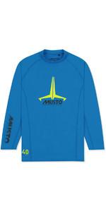 2020 Musto Junior Insignia UV Fast Dry LS T-Shirt Brilliant Blue SKTS012