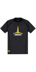 2019 Musto Junior Insignia UV Fast Dry SS T-Shirt Black SKTS011