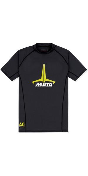 2018 Musto Junior Insignia UV Fast Dry SS T-Shirt Black SKTS011
