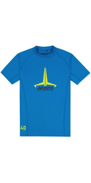 2019 Musto Junior Insignia UV Fast Dry SS T-Shirt Brilliant Blue SKTS011