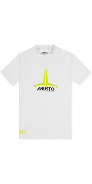 2018 Musto Junior Insignia UV Fast Dry SS T-Shirt White SKTS011