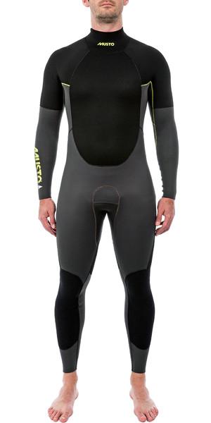 2019 Musto Mens 4/3mm Championship Back Zip Wetsuit Black smwt005