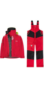 2019 Musto Mens BR2 Offshore Jacket & Trouser Combi Set - Red