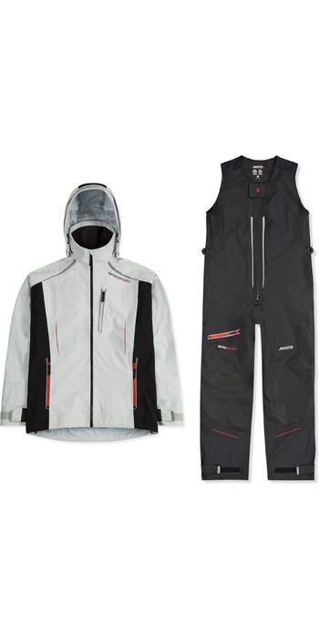 2020 Musto Mens BR2 Sport Jacket & Salopettes Combi Set - Platinum / Black