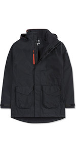2019 Musto Mens Corsica BR1 Long Jacket Black / Fire Orange SE3570