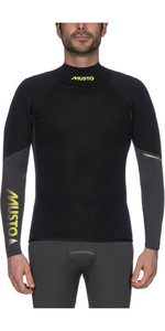 2019 Musto Mens Foiling 4mm Thermohot Long Sleeve Top Dark Grey / Black SMTS010