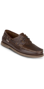 2019 Musto Mens Harbour Moccasin Shoes Dark Brown FMFT008