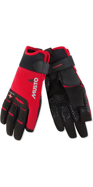 2019 Musto Perfomance Sailing Long Finger Gloves Red AUGL004