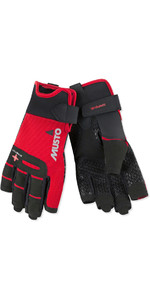 2019 Musto Perfomance Sailing Short Finger Gloves Red AUGL005