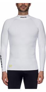2021 Musto UPF50 Long Sleeve Rash Vest White SUTS003