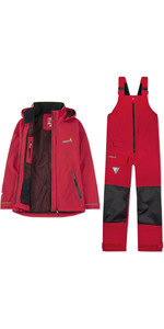 2019 Musto Womens BR1 Inshore Jacket & Trouser Combi Set - Red
