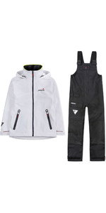 2019 Musto Womens BR1 Inshore Jacket & Trouser Combi Set - White / Black