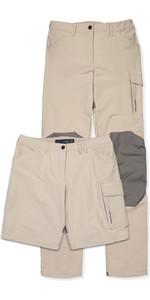 Musto Womens Evolution Performance UV Sailing Trousers & Shorts Light Stone - Regular Length