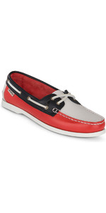 2018 Musto Womens Harbour Moccasins True Navy / True Red FWFT002