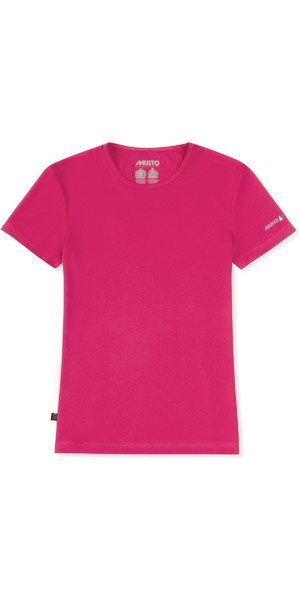 2019 Musto Womens SunShield Permanent Wicking UPF30 T-Shirt Magenta EWTS018