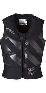 2019 Mystic Block Kite Impact Vest Front Zip BLACK 140295