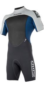 2019 Mystic Brand 3/2mm Back Zip Shorty Wetsuit Navy 180055