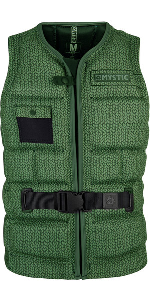 2018 Mystic Break Boundaries Wake Impact Vest Army 180147