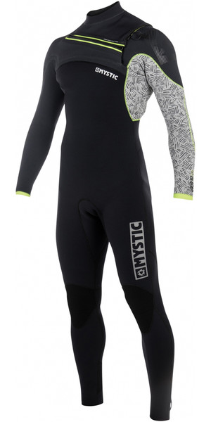 2018 Mystic Drip 5/4mm Front Zip Wetsuit BLACK / GREY 180010