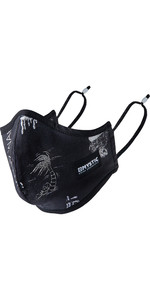 Mystic Brand Face Mask W /  Adjustable Ear Straps 210360 - Black / White