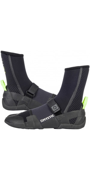 2019 Mystic Lightning Split Toe Boot 5mm BLACK 180040