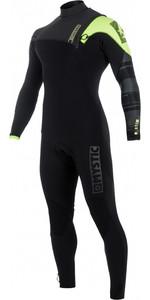 Mystic Majestic Zip Free Wetsuit 4/3mm BLACK / LIME 180008