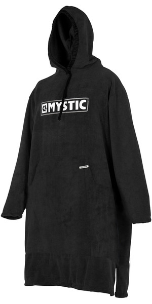 2018 Mystic Poncho Long Sleeve BLACK / GREY 180034