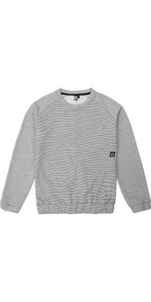 2018 Mystic Mens Ridge Crew Neck Jumper Grey 190507