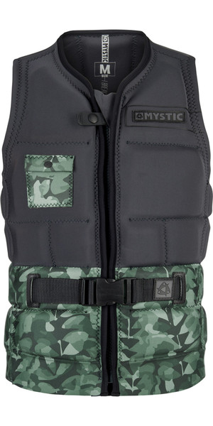 2018 Mystic Shred Impact Vest Front Zip GREEN ALLOVER 180146
