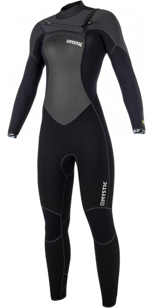 2018 Mystic Gem Womens 5/3mm Chest Zip Wetsuit BLACK 180021