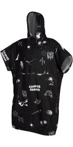 2020 Mystic Allover Poncho / Change Robe 200130 - Black