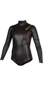 2019 Mystic Diva Black Series 3/2mm Back Zip Long Arm Super Shorty Wetsuit Black 180066