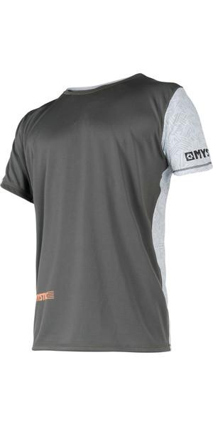2018 Mystic Drip Loosefit Quick Dry Short Sleeve Rash Tee Orange / Grey 180102