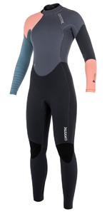 2018 Mystic Dutchess Womens 3/2mm GBS Back Zip Wetsuit Pewter 180028